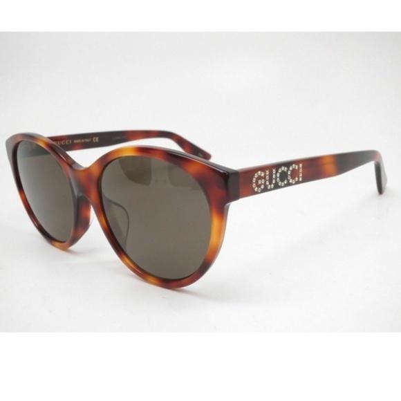 e88cbaee954 Gucci GG0419SA 002 Havana Brown lens Sunglasses